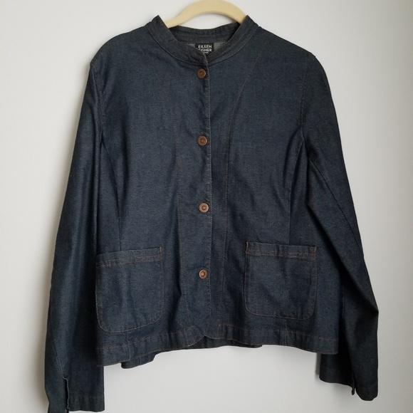 Eileen Fisher Jackets & Blazers - Eileen Fisher petite denim jacket snap buttons